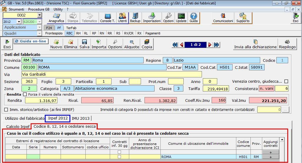 Gli estremi di registrazioni dei contratti di locazione - Contratto locazione temporaneo cedolare secca ...