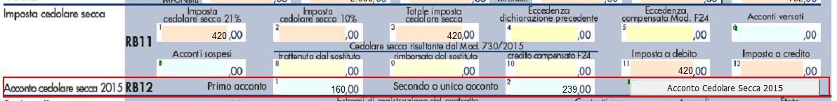 Calcolo della cedolare secca 2015 for Calcolo cedolare secca