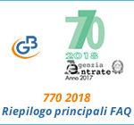 770 2018: riepilogo principali FAQ