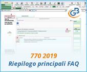 770 2019: riepilogo principali FAQ (domande frequenti)