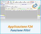Applicazione F24: funzione Filtri