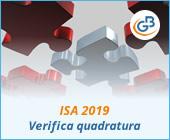 ISA 2019: Verifica quadratura