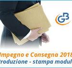 Impegno e Consegna 2018: produzione e stampa modulo
