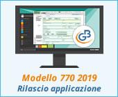 Modello 770 2019: rilascio applicazione