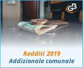 Redditi 2019: gestione Addizionale comunale