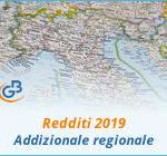 Redditi 2019: Addizionale regionale