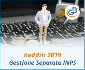 Redditi PF 2019: Gestione separata INPS