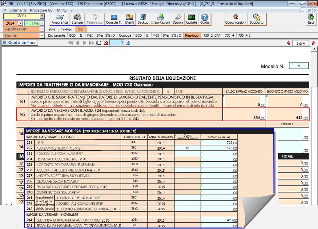 Dichiarazione 730 anche senza sostituto d imposta for Software di progettazione del modello di casa