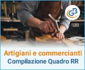 : Artigiani e commercianti: come compilare il Quadro RR?