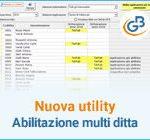 Nuova utility: Abilitazione multi ditta