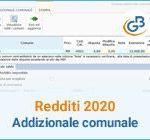Redditi 2020: gestione Addizionale comunale