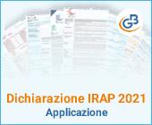 Dichiarazione IRAP 2021: Applicazione