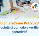 Dichiarazione Iva 2020: Società di comodo e verifica operatività