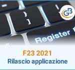 F23 2021: rilascio applicazione