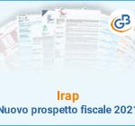 Irap: nuovo prospetto fiscale 2021