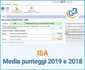 ISA: media dei punteggi 2019 e 2018
