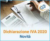 Novità Dichiarazione IVA 2020