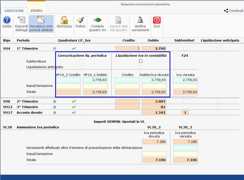 Iva e Iva Base 2021: quadro VH quando e perché: differenze tra quanto è stato comunicato con la comunicazione delle liquidazioni periodiche e quanto registrato in contabilità.