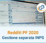 Redditi PF 2020: Gestione separata INPS