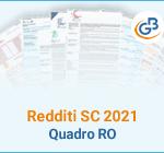 Redditi SC 2021: Quadro RO