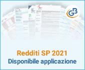 Redditi SP 2021: disponibile applicazione