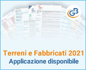 Terreni e Fabbricati 2021: applicazione disponibile
